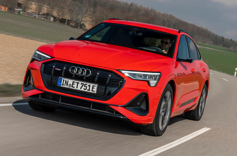 Audi E-tron Sportback 2020 road test review - on the road front