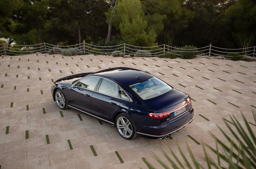 Audi S8 2020 road test review - static rear