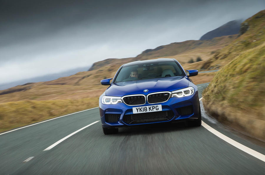 BMW M5 2018 review face on