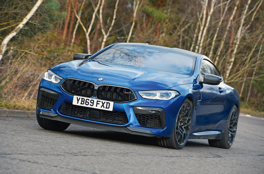 BMW M8 Competition coupe 2020 road test review - on the road front
