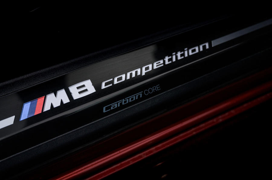BMW M8 Competition convertible 2020 road test review - scuff plates