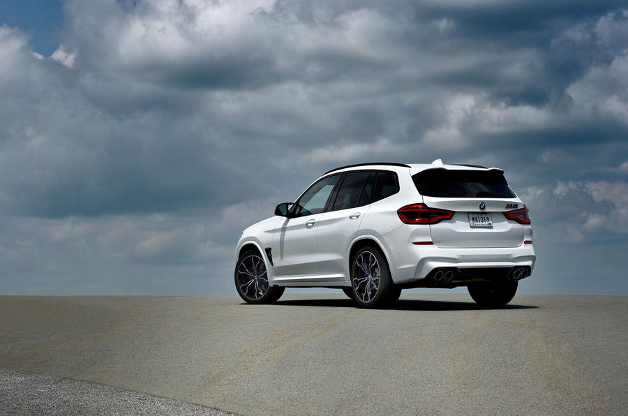 BMW X3 M Competition 2019 review - static rear