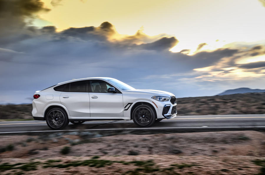 BMW X6 M Competition 2020 road test review - on the road side
