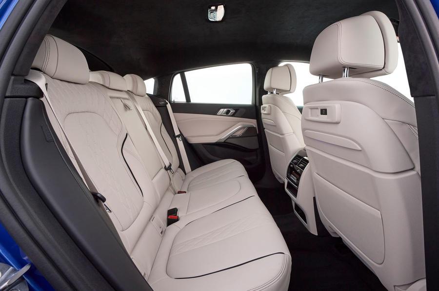 BMW X6 M50i 2019 road test review - rear seats