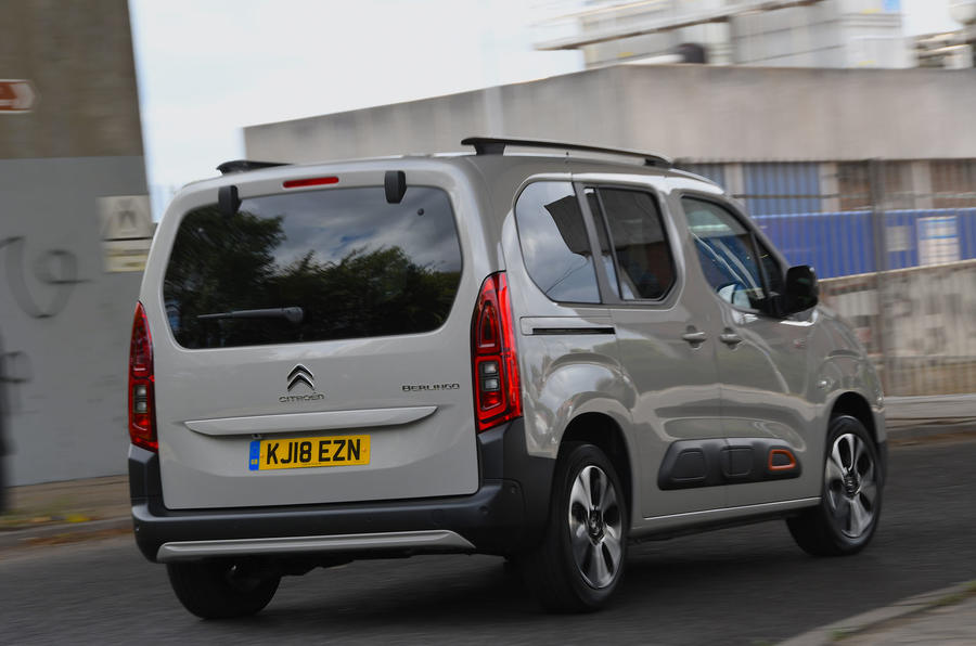 Citroen Berlingo 2018 road test review - cornering rear
