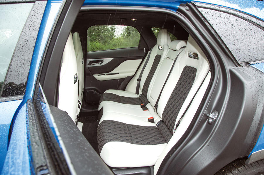 Jaguar F-Pace SVR 2019 road test review - rear seats