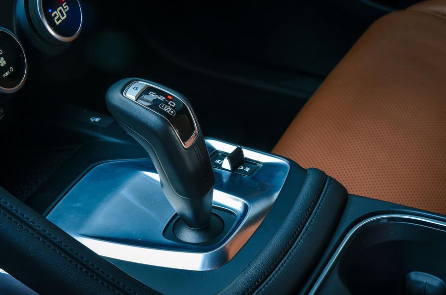 Jaguar E-Pace review gearstick