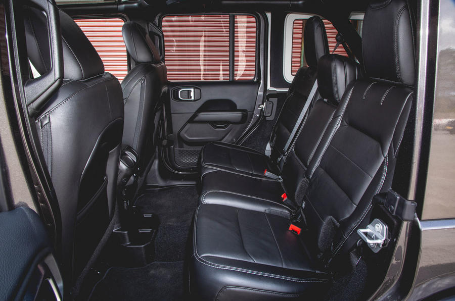 Jeep Wrangler 2019 road test review - rear seats