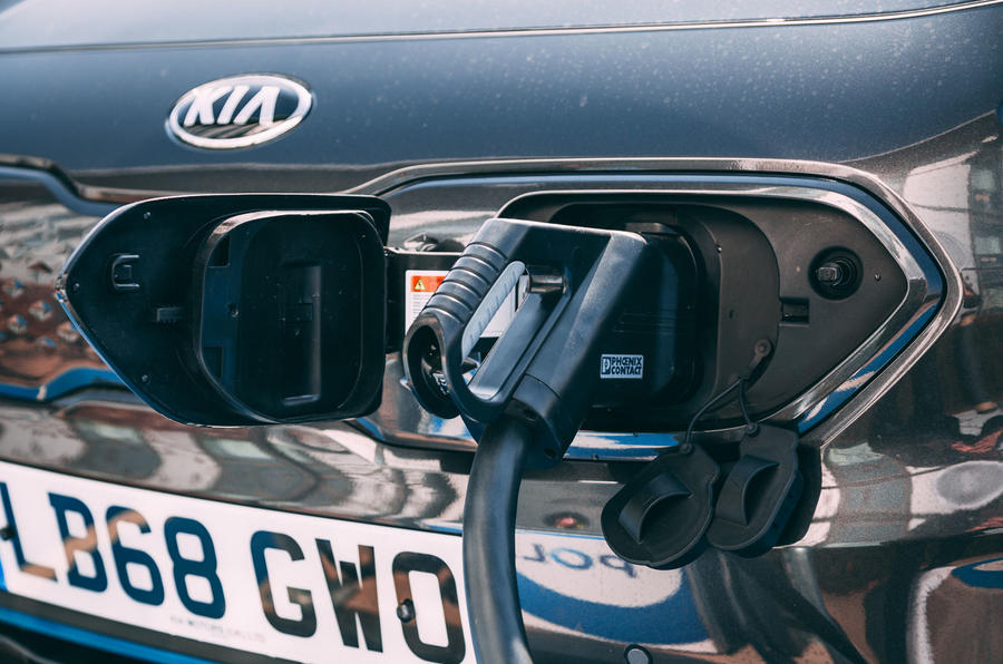 Kia e-Niro 2019 road test review - charging port