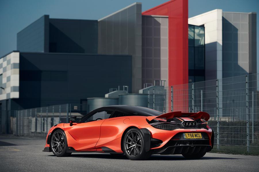 McLaren 765LT 2020 road test review - static rear