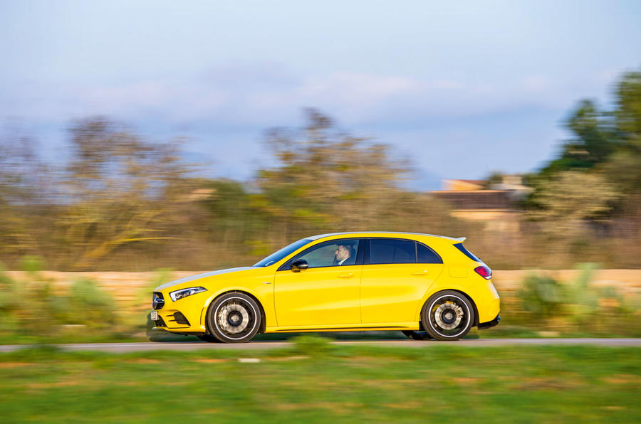 Mercedes-AMG A35 2018 review - on the road left