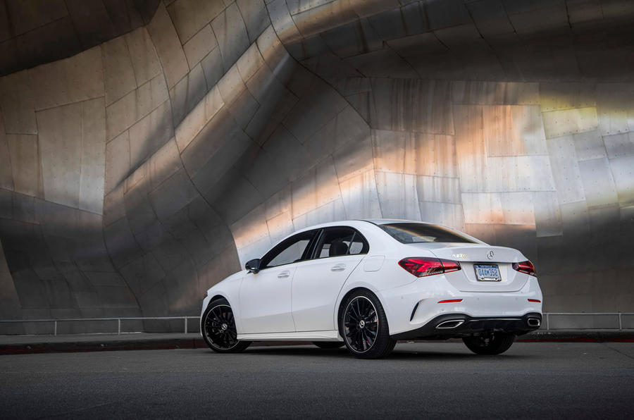 Mercedes-Benz A-Class saloon 2018 review - static rear