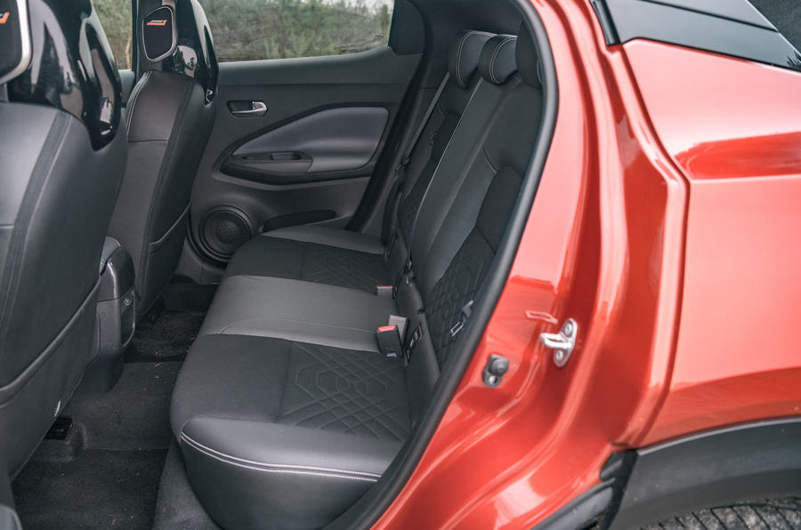 Nissan Juke 2020 road test review - rear seats