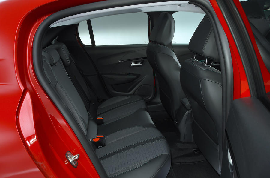 Peugeot e-208 2020 road test review - rear seats