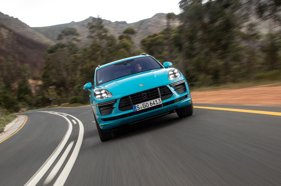 Porsche Macan Turbo 2019 road test review - on the road nose