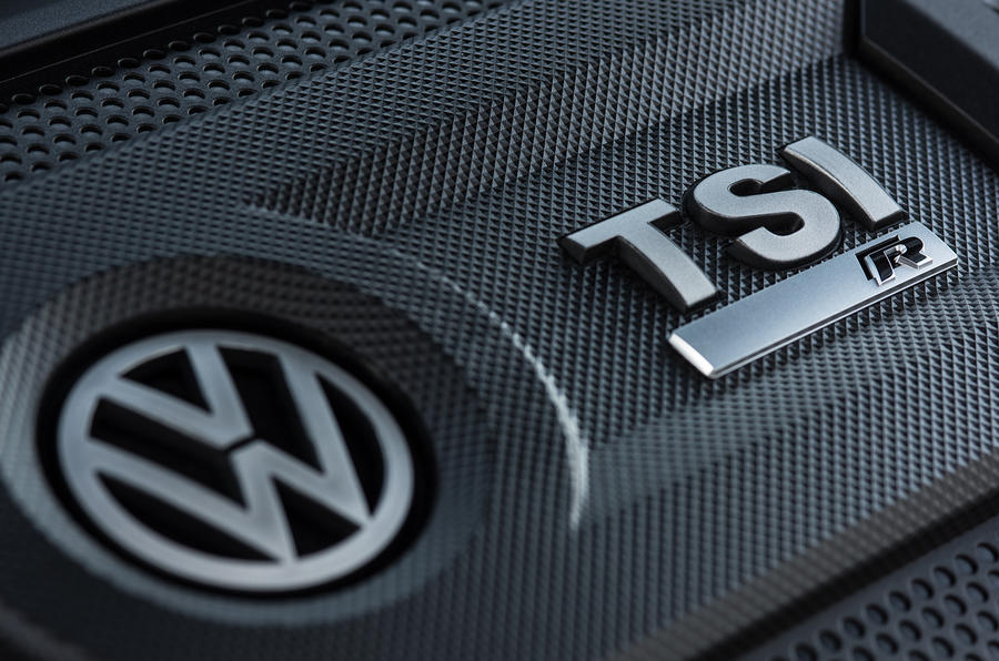 Volkswagen Golf R 2019 road test review - engine cover