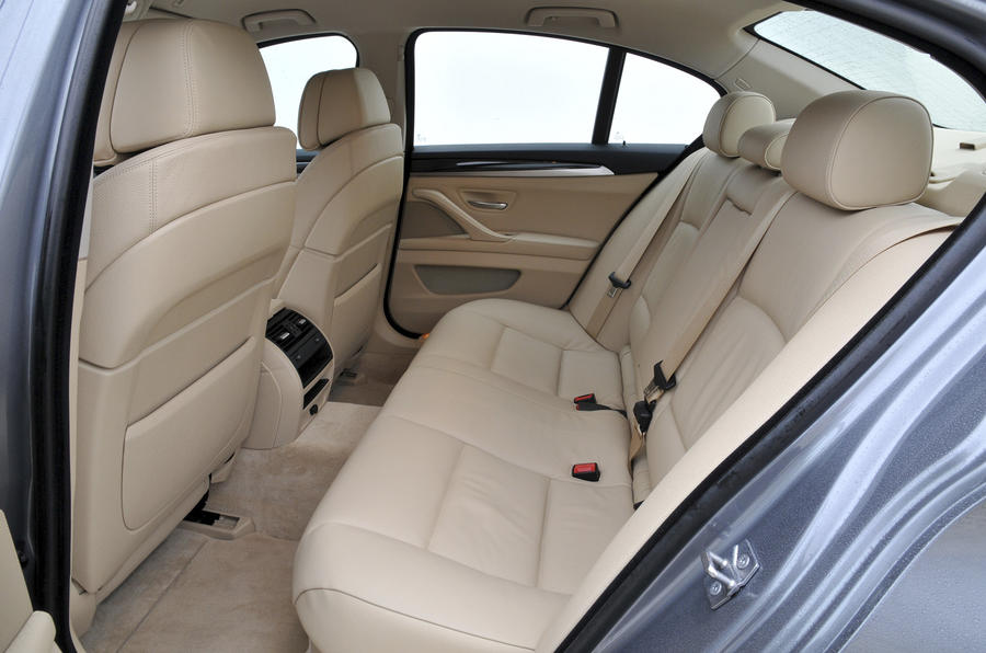 BMW 535i rear seats
