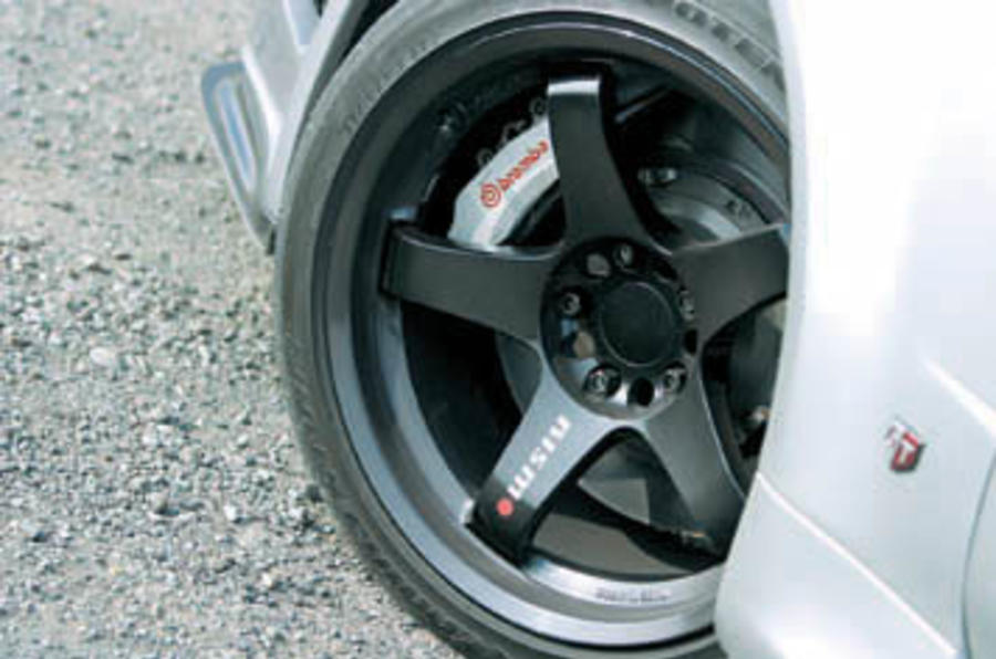 Nissan Skyline GT-R black alloys