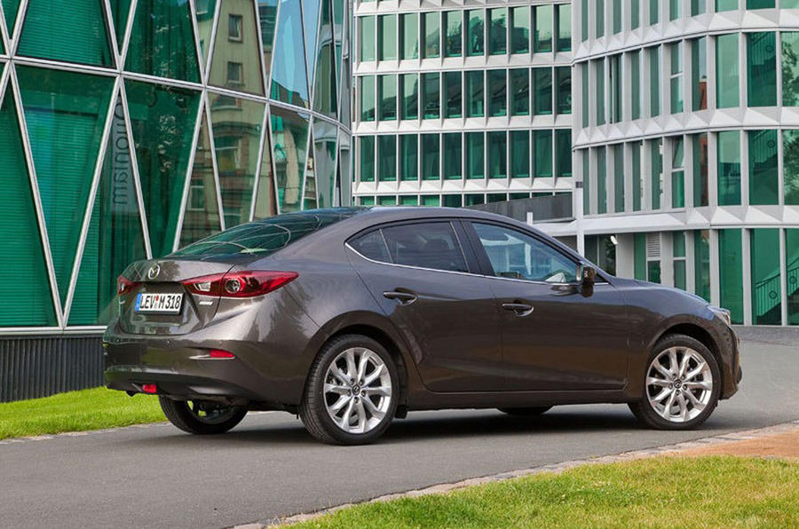 new mazda 3 saloon images leaked latest pics. Black Bedroom Furniture Sets. Home Design Ideas