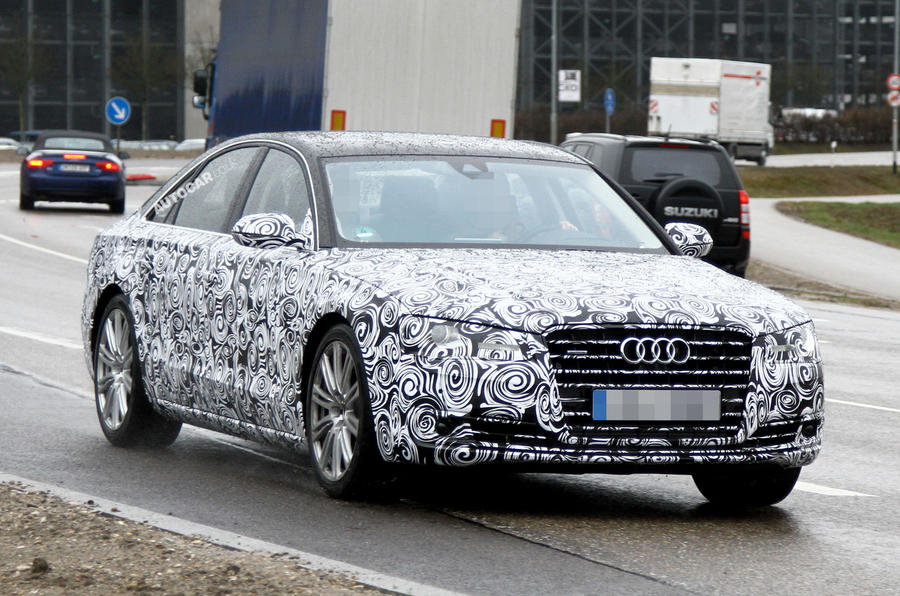 Audi A8 facelift in development