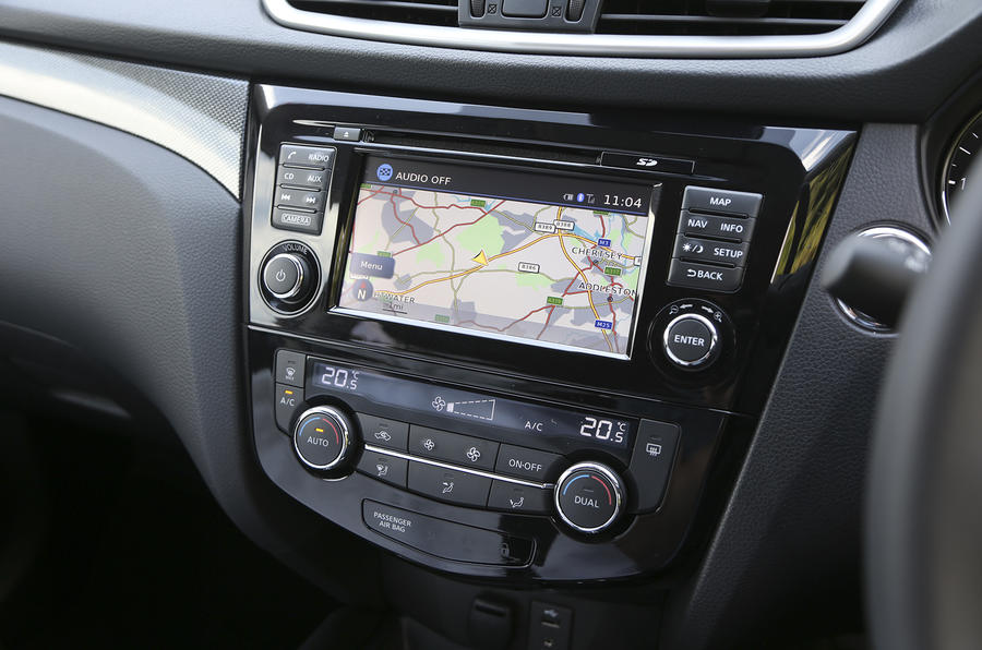 Nissan X-Trail infotainment system
