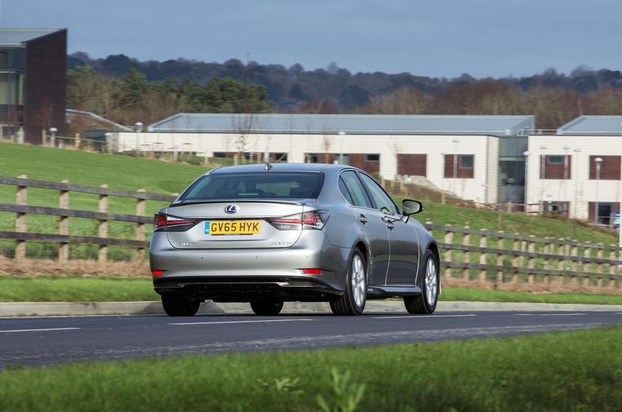 Lexus GS rear cornering
