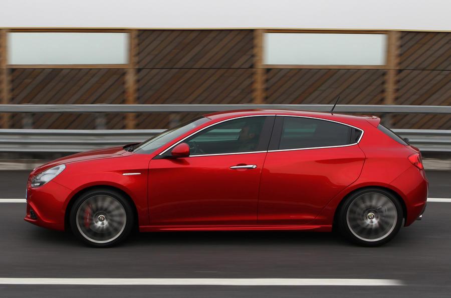 Alfa Romeo Giulietta on the road