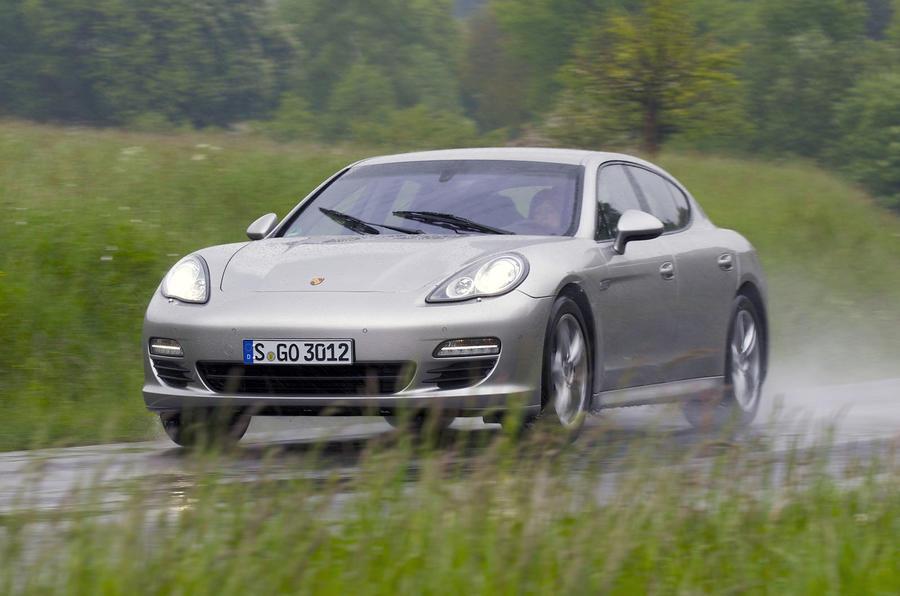 Porsche Panamera 4 in the wet