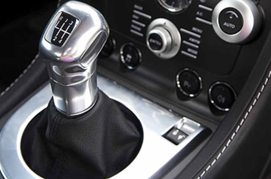 Aston Martin Vantage manual gearbox