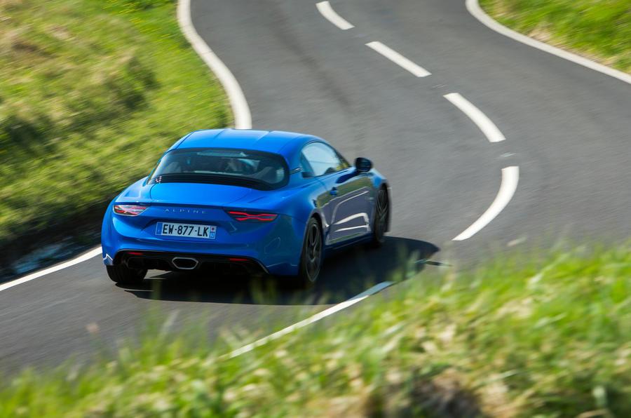 Alpine A110 2018 road test review cornering rear