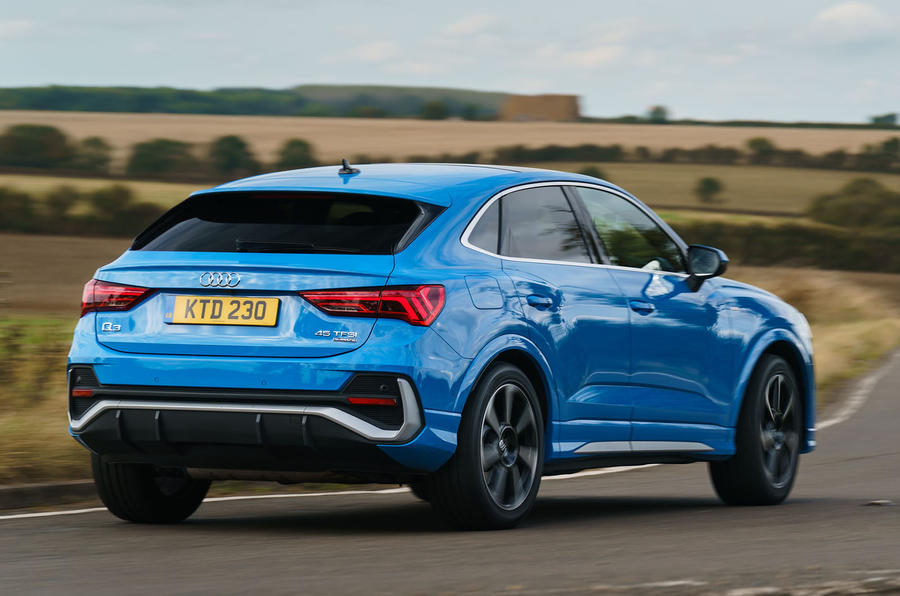 Audi Q3 Sportback 2019 road test review - cornering rear