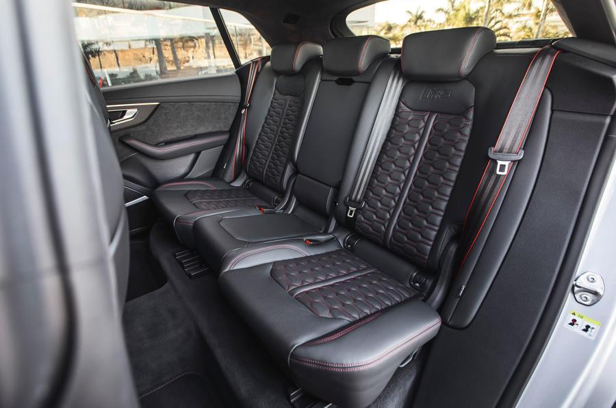 Audi RS Q8 2020 road test review - rear seats