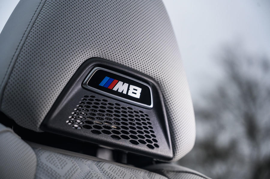 BMW M8 Competition convertible 2020 road test review - seat details