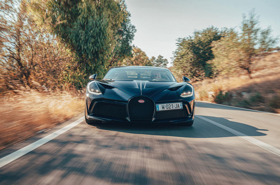 Bugatti Divo 2020 road test review - on the road nose