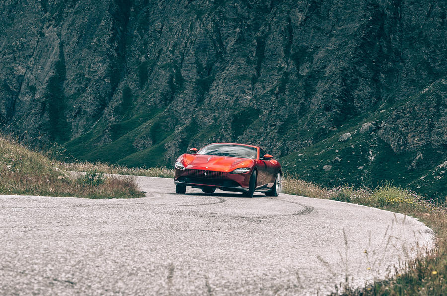 Ferrari Roma 2020 road test review - drifting