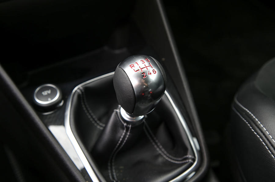 Ford Fiesta ST 2018 road test review gearstick