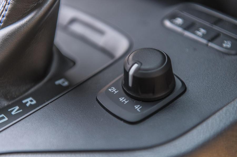 Ford Ranger Raptor 2019 road test review - low range controls