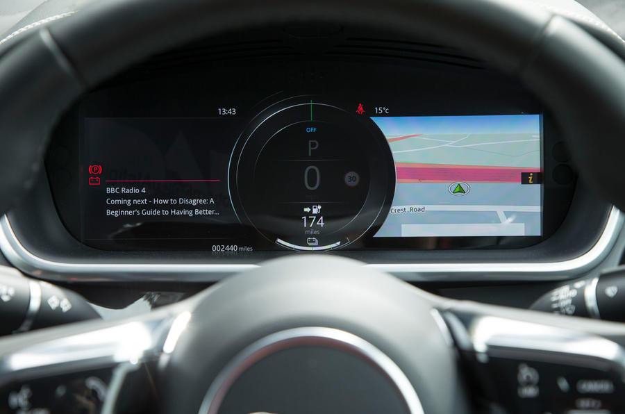Jaguar I-Pace 2018 road test review instrument cluster