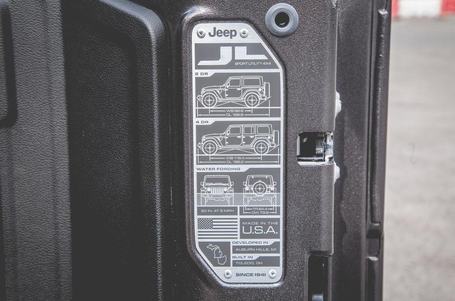 Jeep Wrangler 2019 road test review - door inserts