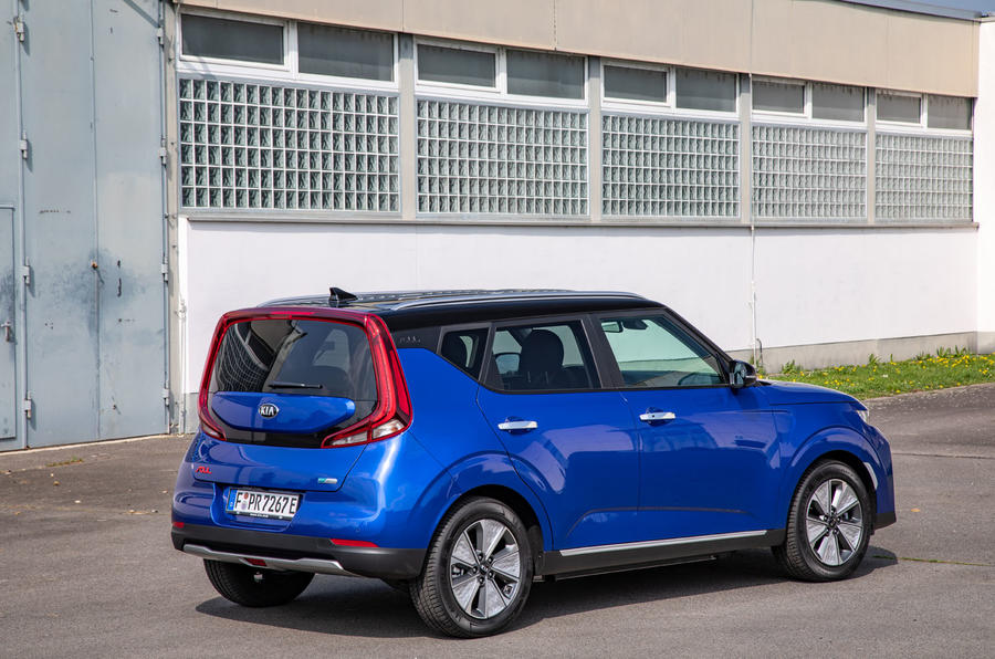 Kia Soul EV 2019 European first drive - static rear