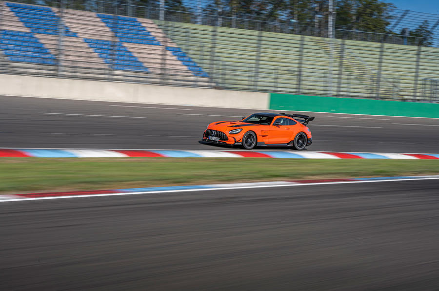 Mercedes-AMG GT Black Series road test review - on track side