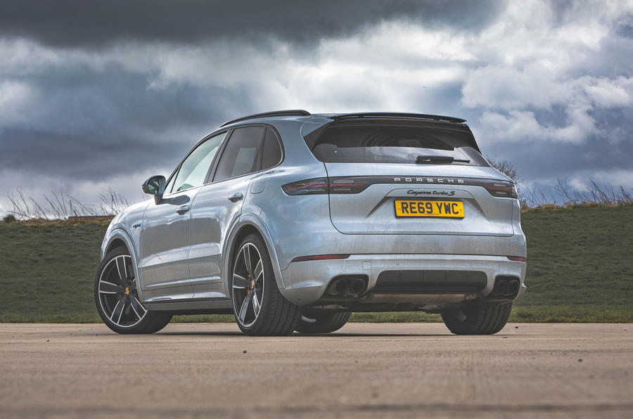 Porsche Cayenne Turbo S E-Hybrid road test review - static rear
