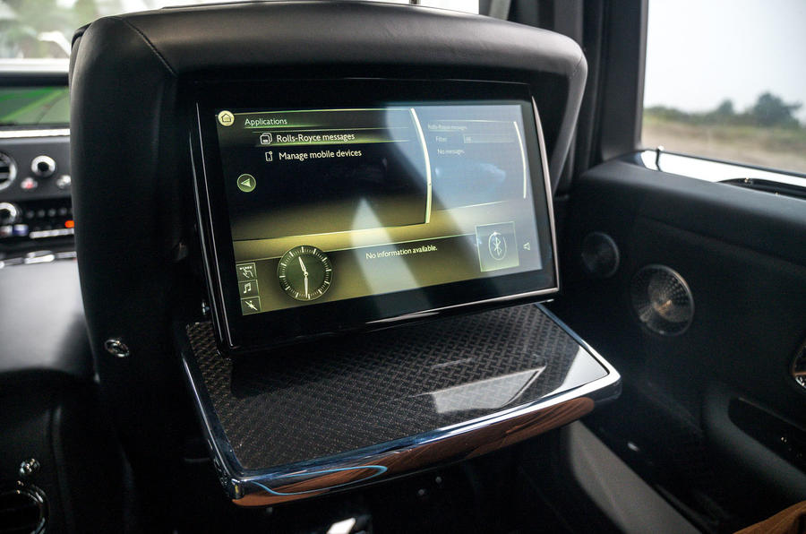 Rolls Royce Cullinan 2020 road test review - rear infotainment