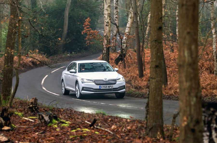Skoda Superb iV 2020 road test review - on the road front
