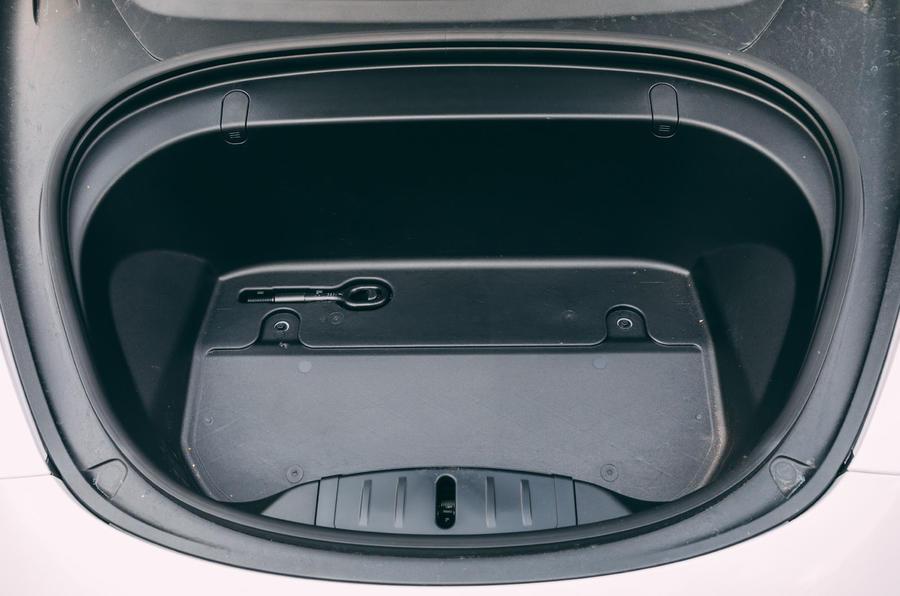 Tesla Model 3 road test - front boot