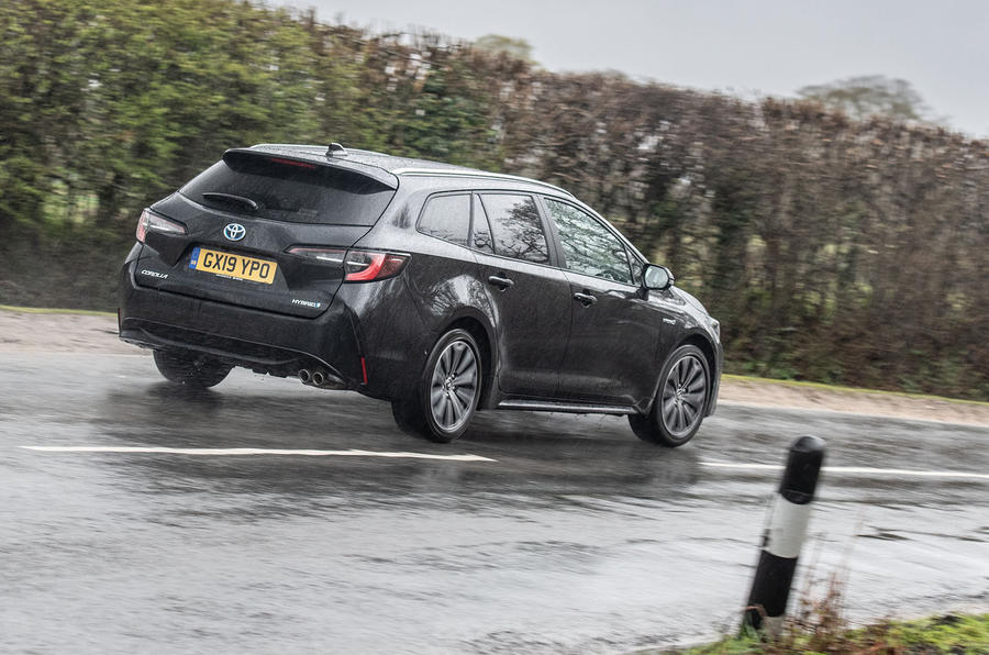 Toyota Corolla Touring Sports 2019 road test review - on the road rear