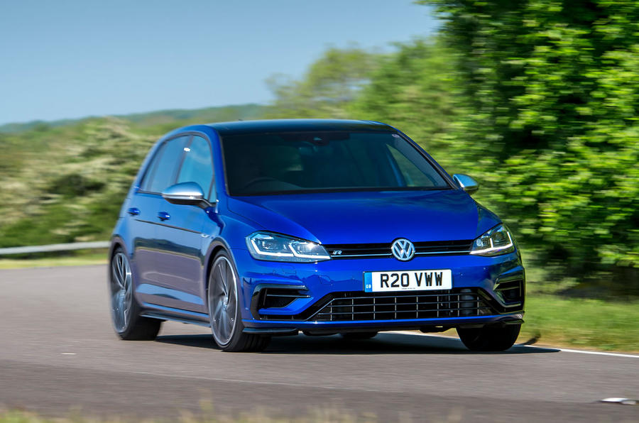 Volkswagen Golf R 2019 road test review - cornering front