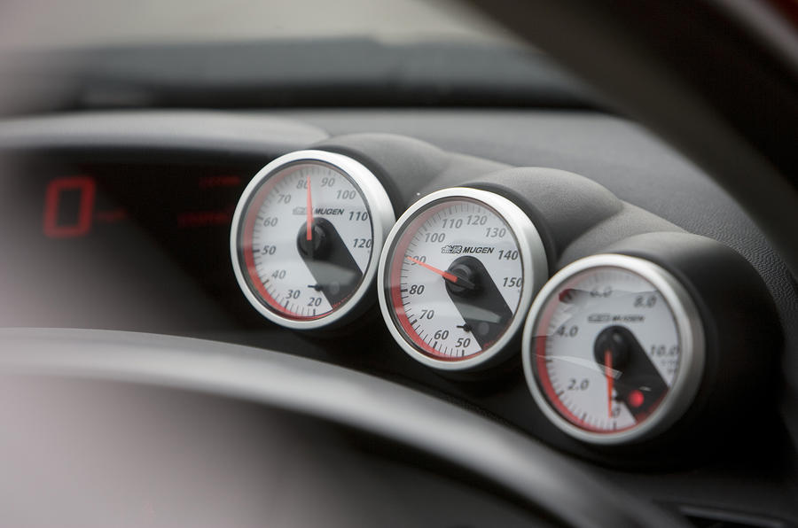 Honda Civic Type R Mugen Concept turbo gauges
