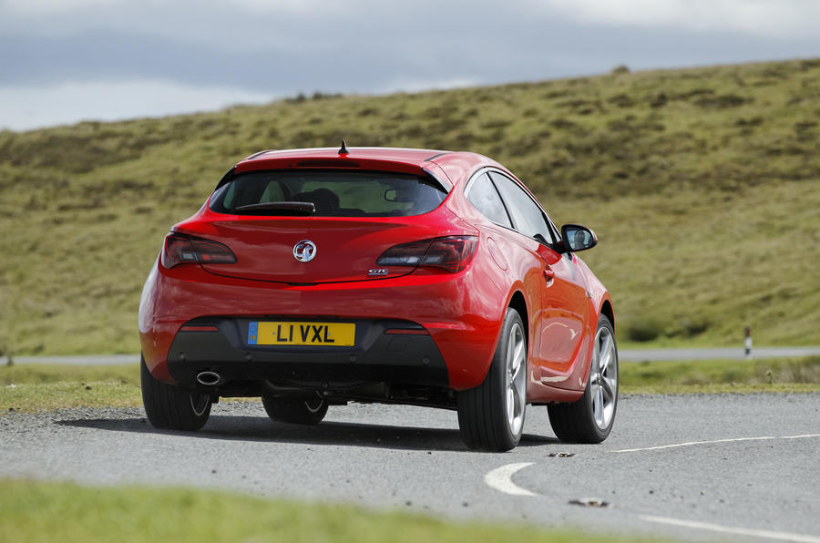 Vauxhall Astra GTC rear cornering