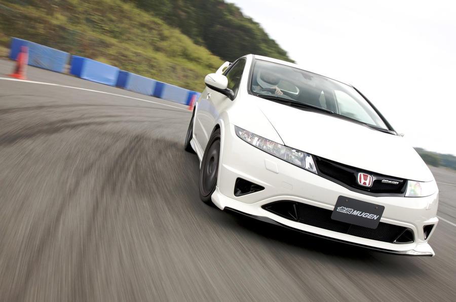 Honda Civic Type R Mugen hard cornering